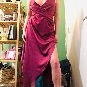 NWT ASOS Satin burgundy dress